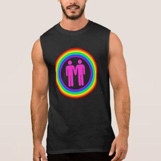 Het vrolijke Mannen van het Paar van de Regenboog T Shirt