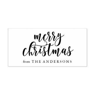 Het vrolijke Manuscript van Kerstmis Rubberenstempel