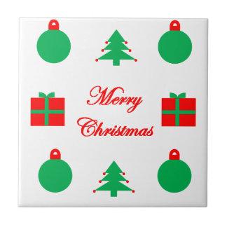 Het vrolijke Ontwerp van Kerstmis Keramisch Tegeltje