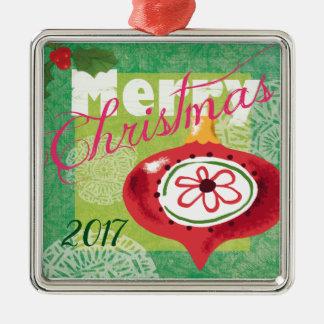 Het vrolijke Ornament van Kerstmis 2017