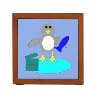 Het vrolijke Propere Bureau van de Pinguïn van de Pennenhouder