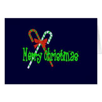 Het vrolijke Riet van het Snoep van Kerstmis met Briefkaarten 0