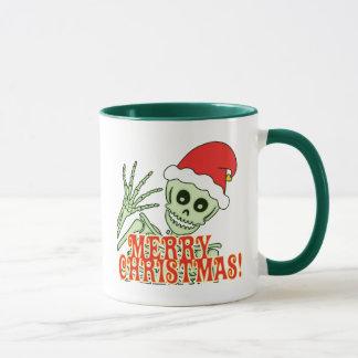 Het vrolijke Skelet van Kerstmis Mok