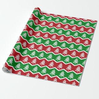 Het vrolijke Vintage Rode Groene Verpakkende Cadeaupapier
