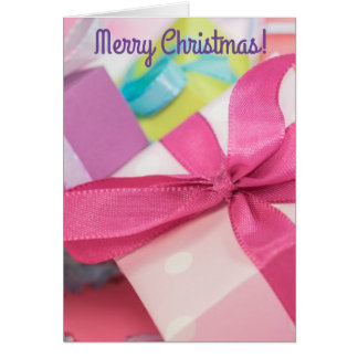 Het vrolijke Wenskaart van de Cadeaus van Kerstmis Kaart