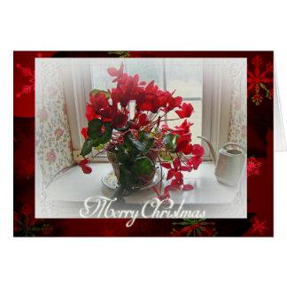 Het vrolijke Wenskaart van de Cyclaam van Kerstmis