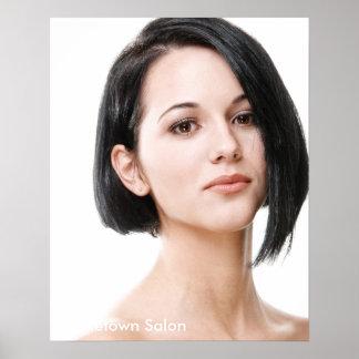 Het vrouwelijke ModelPoster van de Salon van het Poster