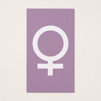 Het Vrouwelijke Symbool van het Kruid van de Visitekaartjes