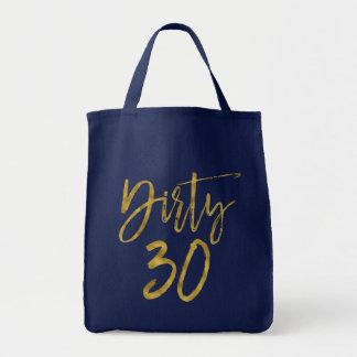 Het vuile Gouden Canvas tas van de Verjaardag van