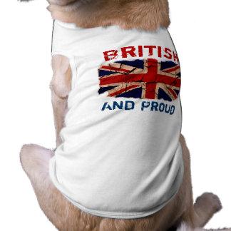 Het vuile Vintage UK Mouwloos Hondenshirt
