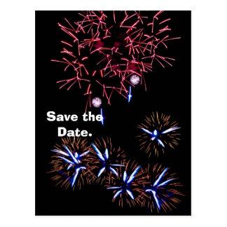 Het vuurwerk bewaart de Datum Briefkaart