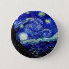 het vVan Fijne Art. van de Sterrige Nacht Gogh Ronde Button 5,7 Cm