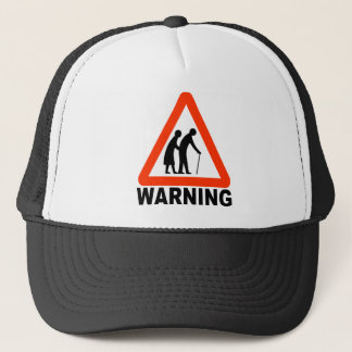 Het waarschuwen - Bejaarde Kruising Trucker Pet