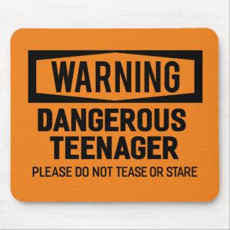 Het waarschuwen van Gevaarlijke Tiener Mousepad Muismat