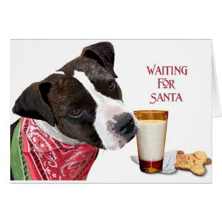 Het wachten op Kerstman VI Wenskaart