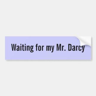 Het wachten op mijn M. Aangepast Darcy - Bumpersticker