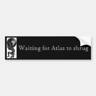 Het wachten op op te halen Atlas Bumpersticker