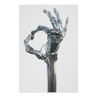 Het wapen van de robot poster