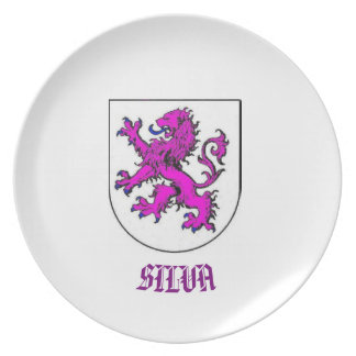 Het Wapenschild CustomPlate van Silva Family Melamine+bord