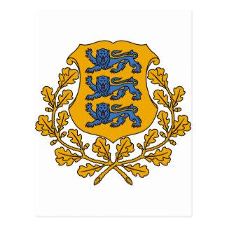 Het Wapenschild EE van Estland Briefkaart