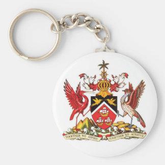 Het Wapenschild Keychain van Trinidad en van Sleutelhanger