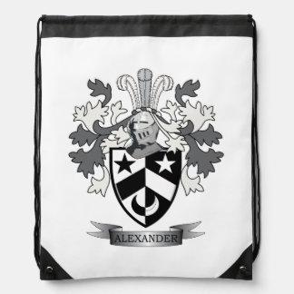 Het Wapenschild van Alexander Family Crest Trekkoord Rugzakje