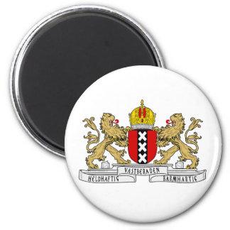 Het Wapenschild van Amsterdam Ronde Magneet 5,7 Cm