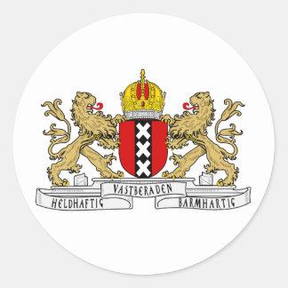 Het Wapenschild van Amsterdam Ronde Sticker