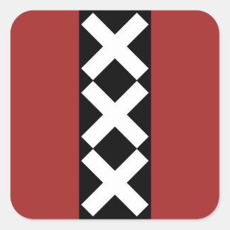 Het Wapenschild van Amsterdam Vierkant Stickers