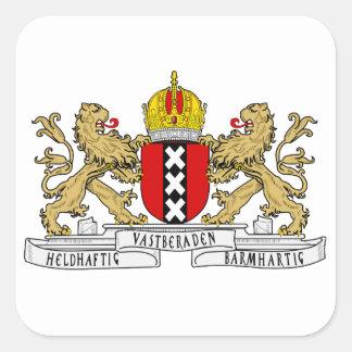 Het Wapenschild van Amsterdam Vierkante Stickers