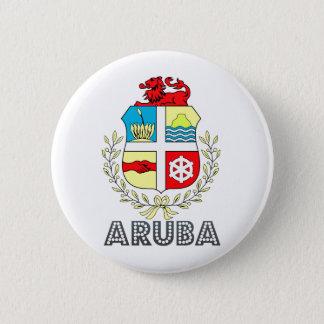Het Wapenschild van Aruba Ronde Button 5,7 Cm