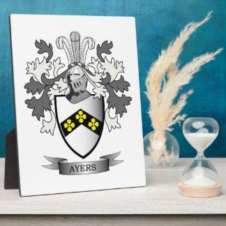 Het Wapenschild van CREST van de Familie van Ayers Fotoplaat