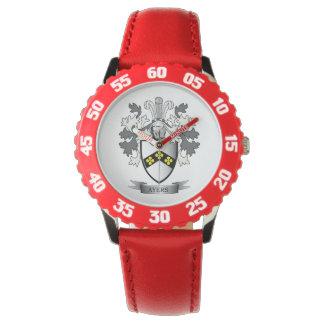 Het Wapenschild van CREST van de Familie van Ayers Horloge