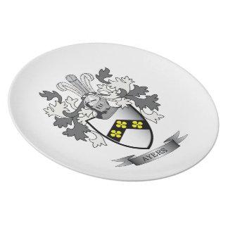 Het Wapenschild van CREST van de Familie van Ayers Melamine+bord
