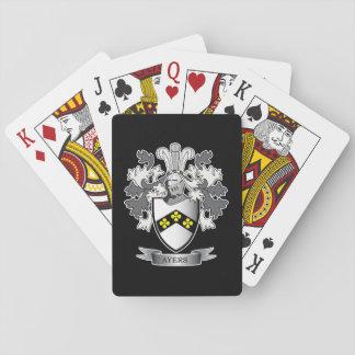Het Wapenschild van CREST van de Familie van Ayers Pokerkaarten