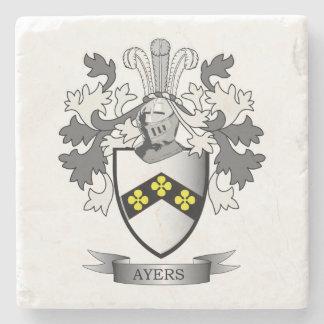 Het Wapenschild van CREST van de Familie van Ayers Stenen Onderzetter