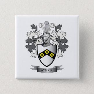 Het Wapenschild van CREST van de Familie van Ayers Vierkante Button 5,1 Cm