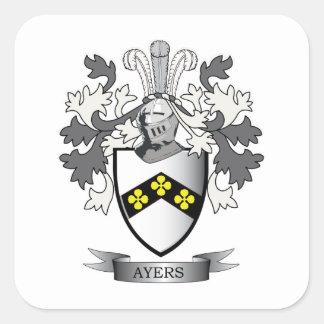 Het Wapenschild van CREST van de Familie van Ayers Vierkante Sticker