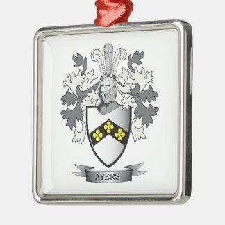Het Wapenschild van CREST van de Familie van Ayers Zilverkleurig Vierkant Ornament