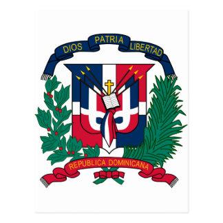 Het wapenschild van de Dominicaanse Republiek Briefkaart