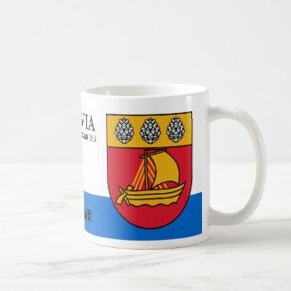 Het Wapenschild van de zeilboot van Valdemarpils Koffiemok