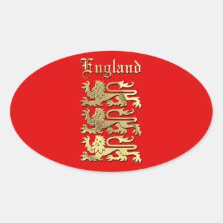 Het Wapenschild van Engeland Ovale Sticker
