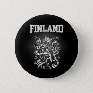 Het Wapenschild van Finland Ronde Button 5,7 Cm