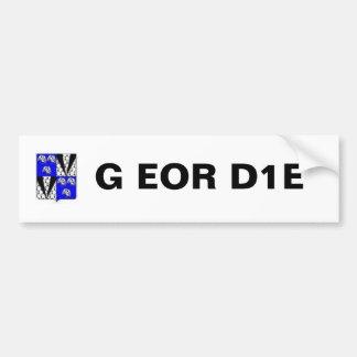 Het Wapenschild van Geordie, G EOR D1E Bumpersticker