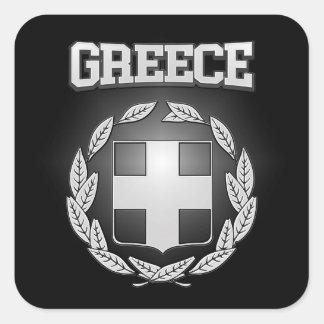 Het Wapenschild van Griekenland Vierkante Sticker
