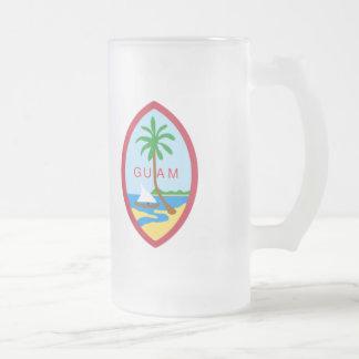 Het wapenschild van Guam Matglas Bierpul