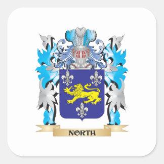 Het Wapenschild van het noorden - CREST van de Vierkante Sticker