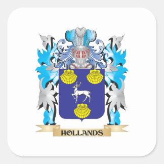 Het Wapenschild van Hollands - CREST van de Vierkant Sticker