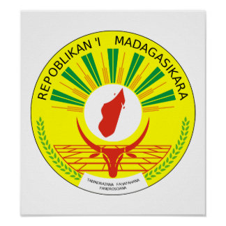 Het Wapenschild van Madagascar Poster