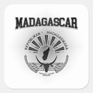 Het Wapenschild van Madagascar Vierkante Sticker